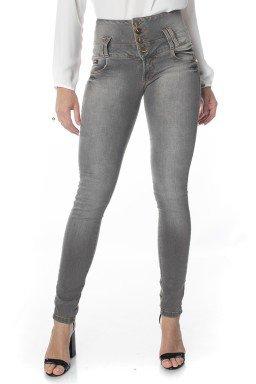 212735 Calça Jeans Feminina Skinny Cós Largo (Frente)