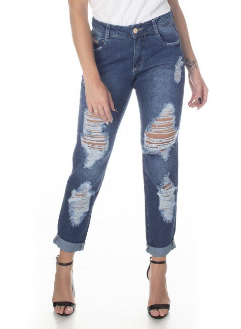113002 Calça Jeans Mom Feminina (Frente1)
