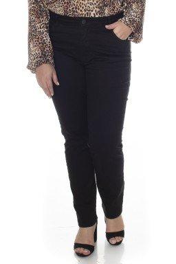2130AR06003 Calça Jeans Skinny Plus Size Preto (Frente1)