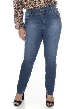 2130AR03 Calça Jeans Skinny Feminina Plus Size Cós Largo (Frente1)