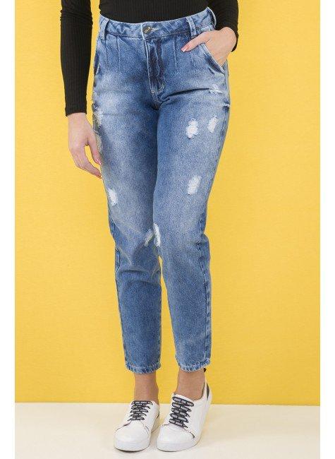 112908 Calça Jeans Mom Destroyed Feminina (Frente)