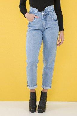 112902 Calça Jeans Mom Clochard Feminina (Frente)