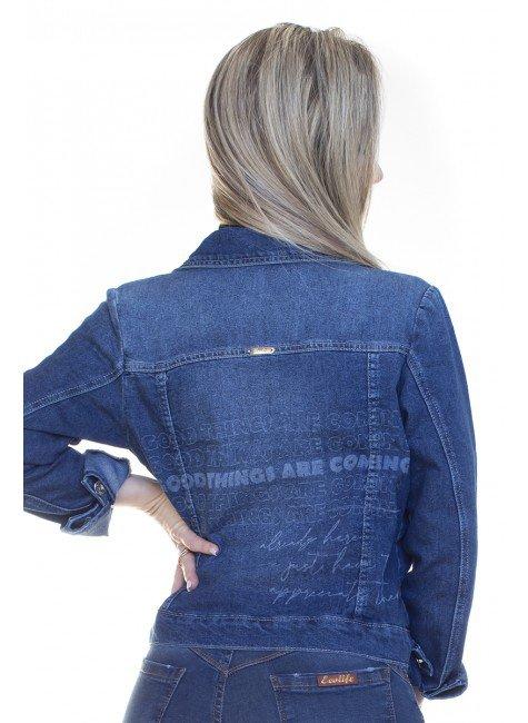 913018 Jaqueta Jeans Estampa Laser (Costas)