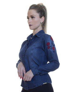 912709 Blusa Jeans com Bordado (Lateral)