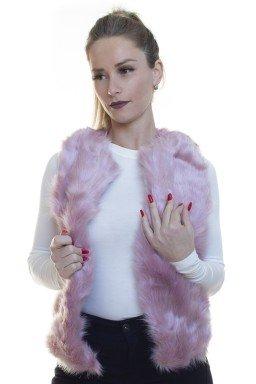 812500010 Colete de Pelo Rosa (Frente)