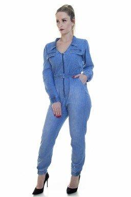 713022 Macacão Jeans (Frente1)