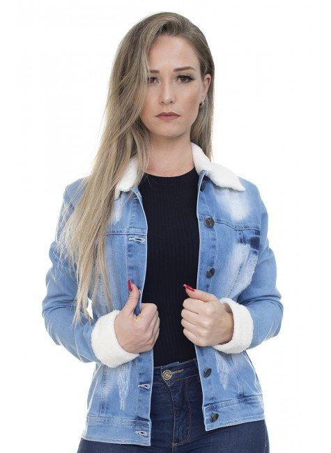 912726 Jaqueta Jeans com Pelo (Frente1)