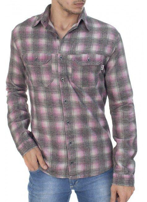 922602010 Camisa Masculina Xadrez (Frente)