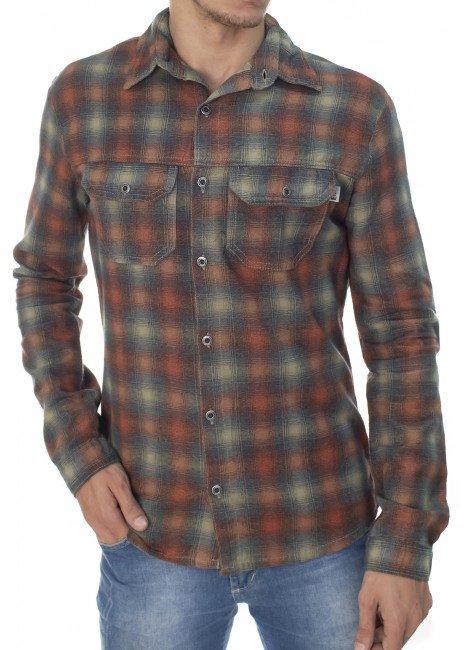 922602006 Camisa Masculina Xadrez (Frente)