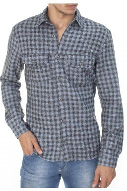 922707176 Camisa Masculina Xadrez (Frente)