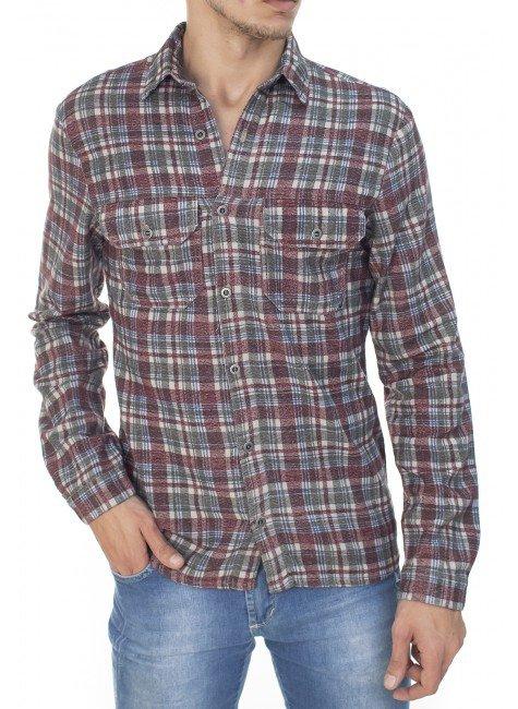922707174 Camisa Masculina Xadrez (Frente)