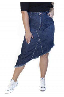 7130AR03 Saia Jeans Midi Plus Size Ponta (Frente2)