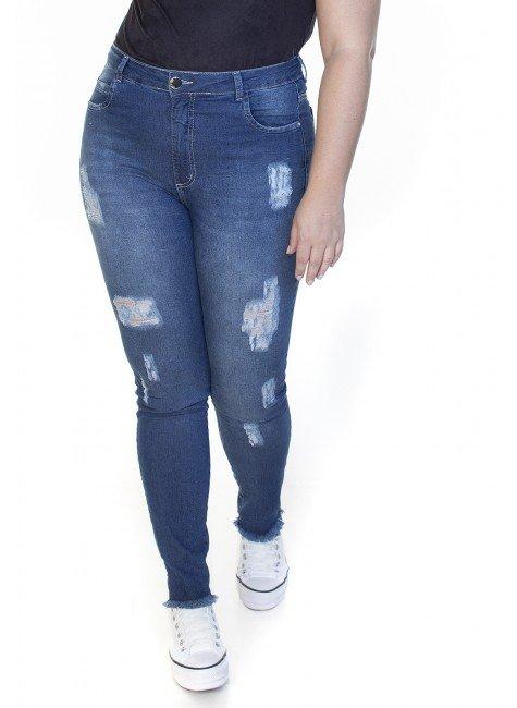 2130ar08 Calça Jeans Feminina Plus Size (Frente1)