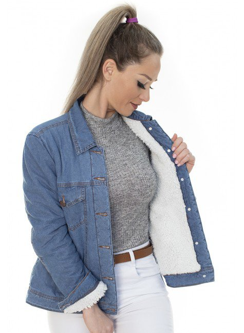 913024 Jaqueta Jeans Forrada (Frente )