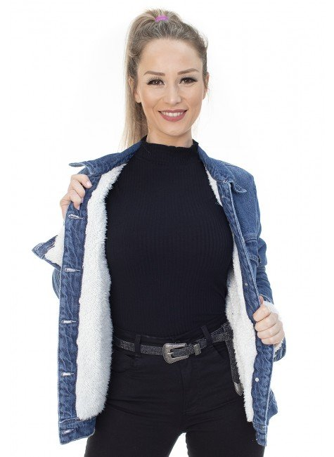 913025 Jaqueta Jeans Forrada Oversized (Frente 1)
