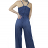 711917 Macacão Jeans Pantalona Feminino (Costas)