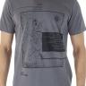 41222005081 T-shirt Masculina Estampa Incontra il Mondo Cinza (Frente)