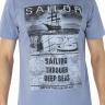 41222004004 T-shirt Masculina Estampa Sailor Azul (Frente)