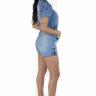 712119 Macaquinho Jeans com Zíper (Costas)