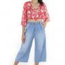 312103 Pantacourt Jeans com Elástico (Frente 1)