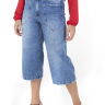 312102 Pantacourt Jeans com Ajuste na Cintura (Frente 4)