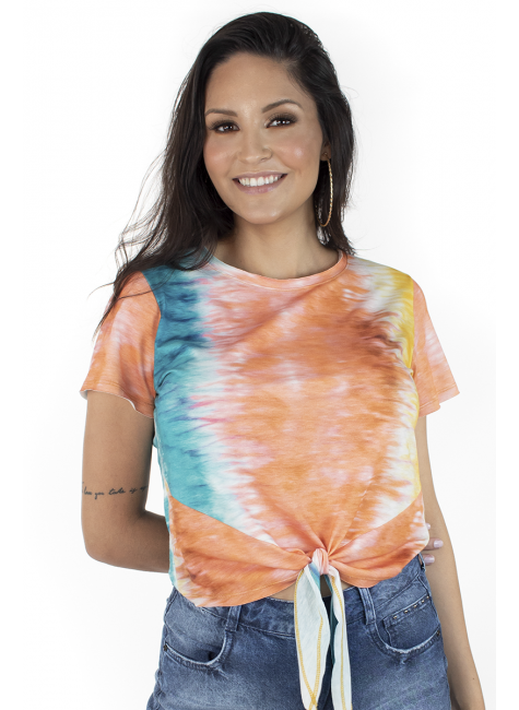 44212100494 T-shirt Feminina Tie Dye (Frente)