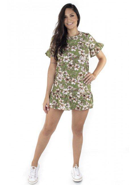 44911901006 Vestido Estampado Floral Verde (Frente)