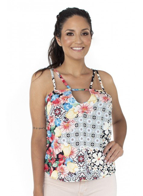 44111942003 Blusa de Alça Estampa Floral (Frente)