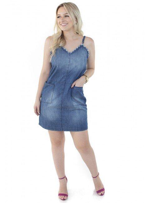 1712015 Vestido Jeans Alcinha (Frente 1)