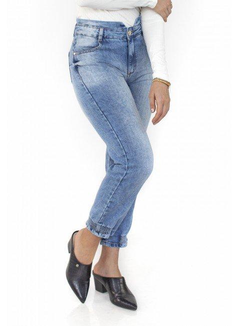 113104 Calça Jeans Mom Clochard Joana frente